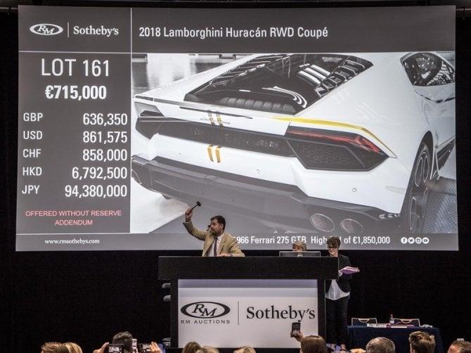 Oltre 700 mila euro per la Lamborghini donata al Papa