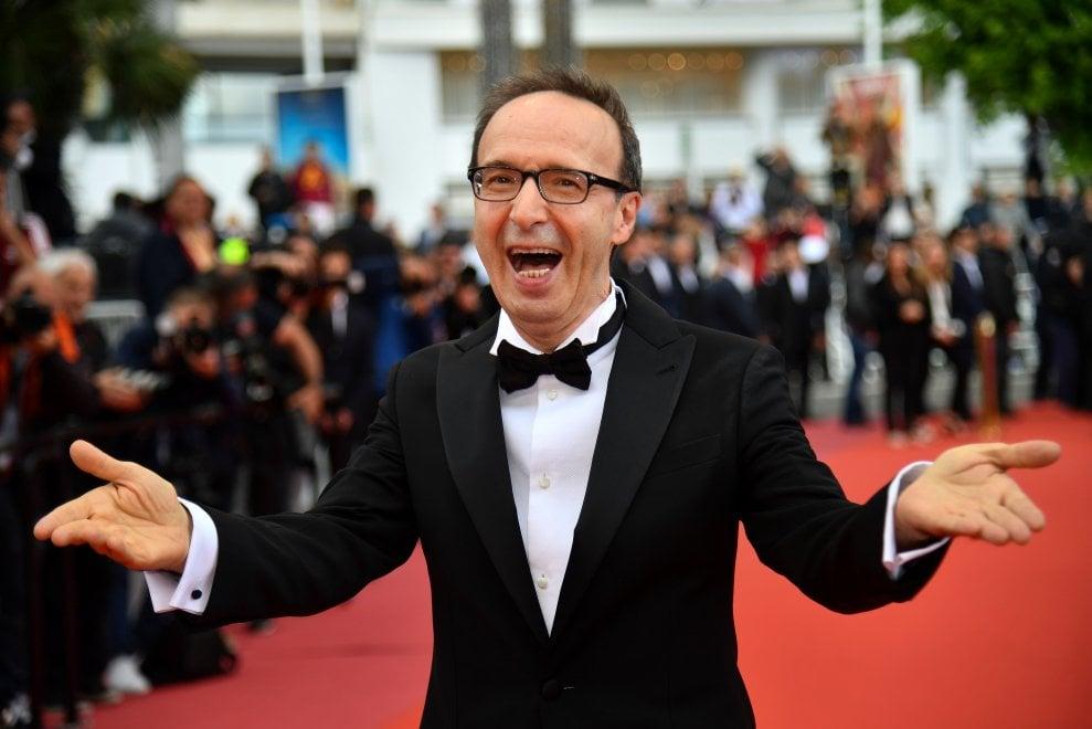 Si sfila per 'Lazzaro felice' di Alice Rohrwacher, sul red carpet spunta Roberto Benigni