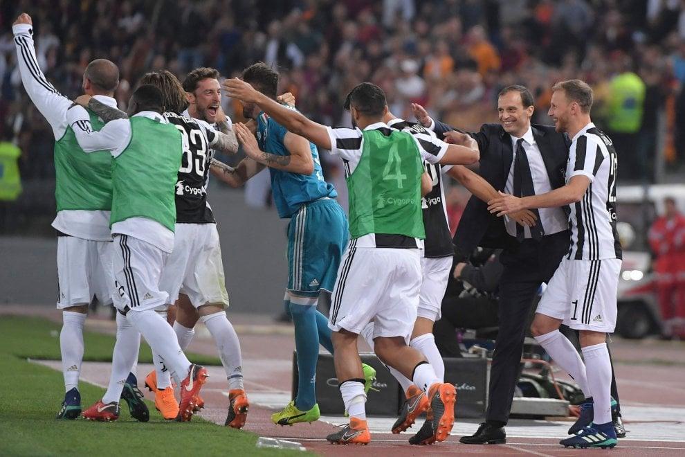 La festa della Juventus all'Olimpico