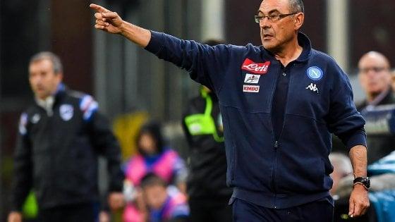"""Napoli, Sarri: """"Juve più potente, perso scudetto in albergo a Firenze"""""""