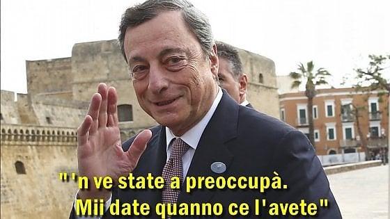 """Da Guzzanti a Osho, social scatenati su bozza M5s-Lega: """"Draghi cancellaci il debito! Buco nell'ozono chiuditi!"""""""