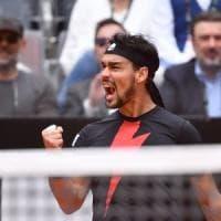Tennis, Roma: Fognini super, batte Thiem e vola agli ottavi