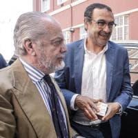 Napoli, incontro positivo tra De Laurentiis e Sarri: c'è ottimismo sul rinnovo