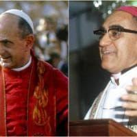 Paolo VI e Romero, la canonizzazione in piazza San Pietro il 14 ottobre