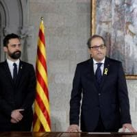 """Catalogna, il nuovo governo ha due ministri in carcere e due """"in esilio"""". Rajoy: """"Una..."""