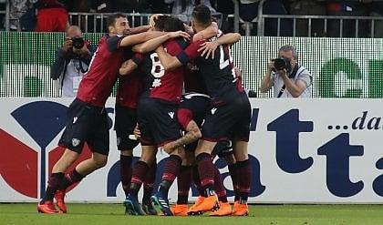 Ceppitelli non sbaglia, Caldara sì Cagliari-Atalanta finisce 1-0