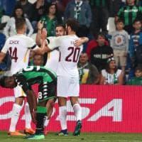 Sassuolo-Roma 0-1, un pasticcio di Pegolo regala ai giallorossi il terzo