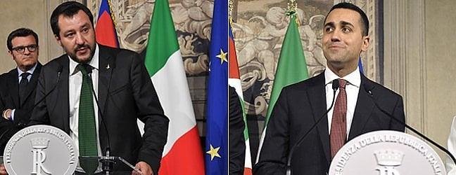 M5s e Lega da Mattarella. Di Maio: Indicato Conte, sarà premier di un governo politico. Salvini: Nessun rischio per leconomia