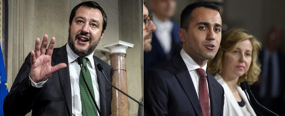 """M5s e Lega da Mattarella. Di Maio: """"Indicato Conte, sarà premier di un governo politico"""". Salvini: """"Nessun rischio per l'economia"""""""