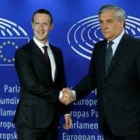 Facebook, Zuckerberg alla Ue: