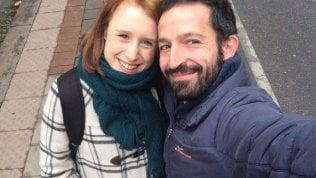I genitori della piccola Blu di Milano