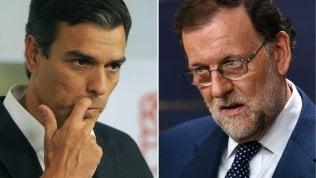 Pedro Sanchez (Psoe) e Mariano Rajoy