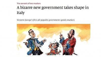 Una vignetta dell'Economist