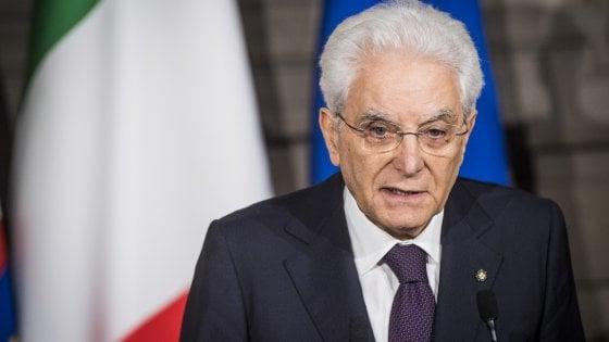 """Mattarella: """"Ho agevolato in ogni modo la nascita del governo, ma devo tutelare i risparmi degli italiani"""""""
