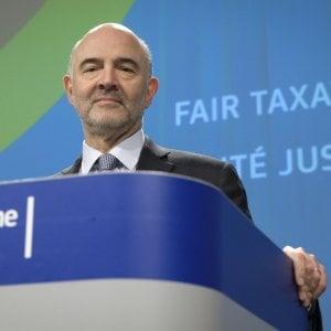 Moscovici: Gli italiani definiscono il loro destino. L'appello: Restino nelle regole comuni e nell'euro
