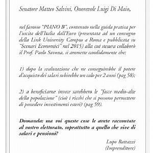 """Governo, la domanda (retorica) di Rattazzi: """"Cari Salvini e Di Maio ma avete spiegato l'Italexit ai vostri elettori?"""""""