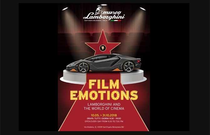 Una mostra per celebrare le Lamborghini nel cinema