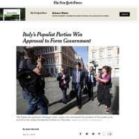 ''L'Italia ai partiti populisti'': la notizia del governo Conte sui siti stranieri