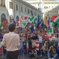 Pd in piazza, Martina a Salvini: