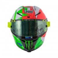 L'omaggio di Valentino Rossi, sul casco la scritta ''Viva l'Italia''
