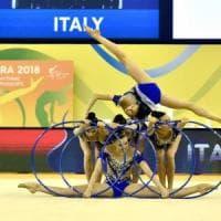Ginnastica, Europei ritmica; le Farfalle si confermano: medaglia d'oro con i 5 cerchi