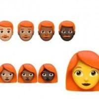 Emoji con e senza capelli: arrivano rossi, ricci e calvi