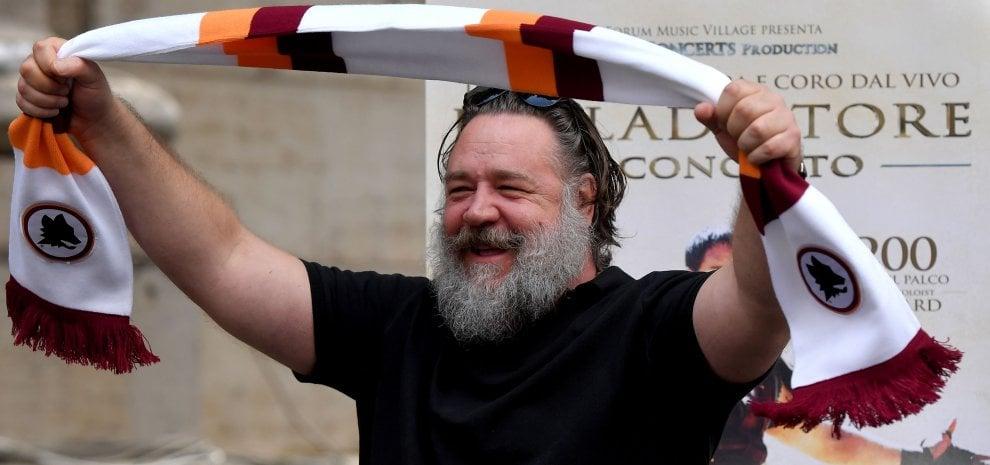 """Russell Crowe: """"Sono al servizio di Roma e torno da Gladiatore dentro al Colosseo"""""""