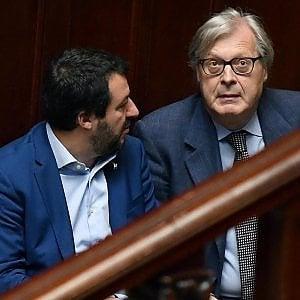 """Governo, lo strappo di Sgarbi: """"Penso malissimo di Di Maio. Ma voto sì: Salvini realizzerà il programma di centrodestra"""""""