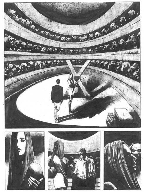Dylan Dog, in anteprima una tavola di 'Profondo Nero', la storia sceneggiata da Dario Argento