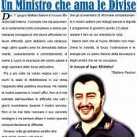 Il Sap festeggia Salvini: