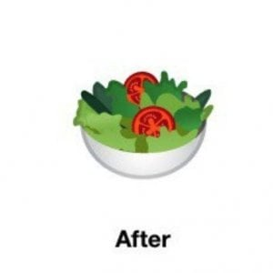 Google, l'emoji dell'insalata sarà vegana: via l'uovo