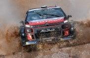Rally di Sardegna, la Citroen C3 fa show nel fango