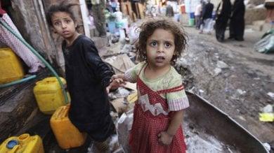 Yemen senza speranze, a rischio  il 70% degli aiuti umanitari  e migliaia di bambini in pericolo di vita