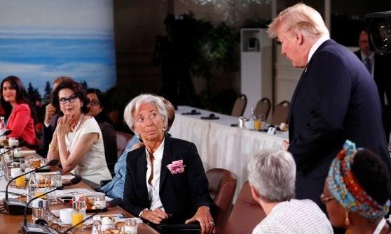 """G7, Trudeau: """"Documento finale firmato da tutti"""". Trump va via e chiede riammissione Russia"""
