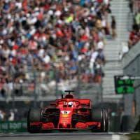 Gp Canada, Ferrari davanti a tutti: Vettel conquista la pole