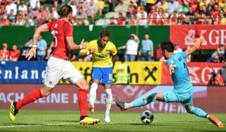 Amichevoli: Neymar show, Brasile batte Austria 3-0