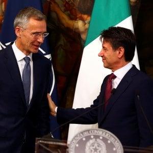 """Nato, Stoltenberg a Roma incontra Conte: """"Italia alleato prezioso"""""""