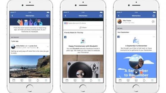 Facebook lancia Memories, una timeline parallela per i ricordi