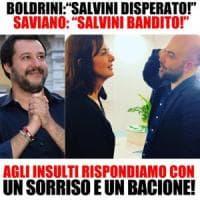 Migranti, scontro sui social fra Saviano e Toninelli. E Salvini interviene