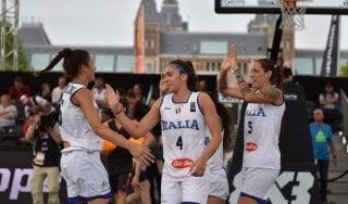 """Basket 3x3, impresa Italia donne: le azzurre vincono il Mondiale. Petrucci: """"Obiettivo Olimpiadi"""""""