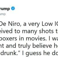 Usa, Trump replica all'attacco di De Niro:
