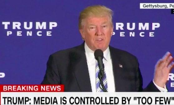 Trump attacca la fusione (a Gettysburg, 2016)