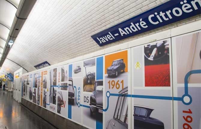 L'auto diventa arte alla stazione di Javel-André Citroën