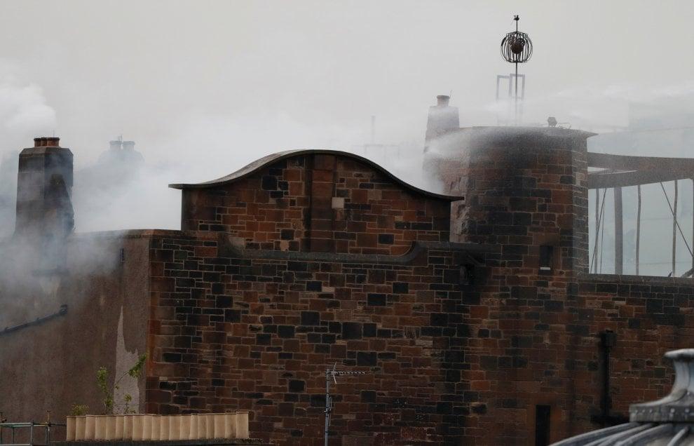 A fuoco la scuola d'arte di Glasgow: era un capolavoro di Mackintosh