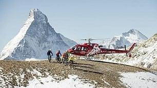 Zermatt, via all'helibiking