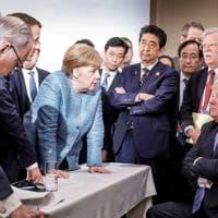"""Trump: """"Io vado d'accordo con i leader del G7. Ecco le vere foto del summit"""""""