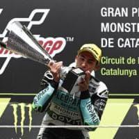 Catalogna, Moto3: vince Bastianini, Bezzecchi è secondo