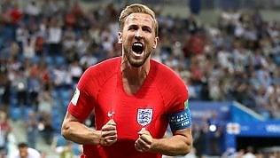 Inghilterra batte Tunisia2-1: decide Kane al 91'.Belgio Panama 3-0Svezia con un rigore batte la Corea del Sud