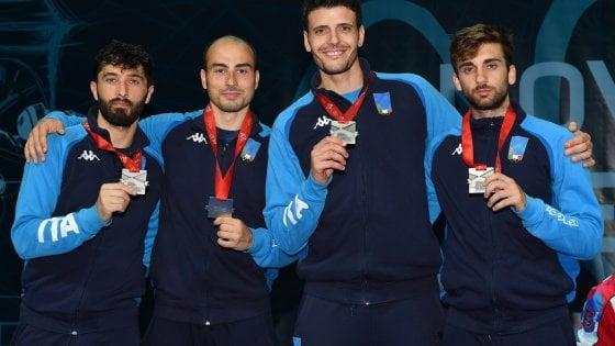 Scherma, Europei: quinta medaglia azzurra, argento nel fioretto a squadre maschile