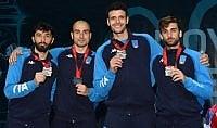Argento nel fioretto a squadre maschile: 5a medaglia azzurra